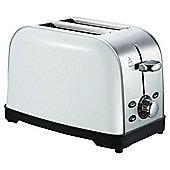 Tesco 2 Slice SS Toaster - White