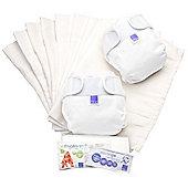 Bambino Mio Miosoft Two-Piece Reusable Nappy Set - Size 2 (White)