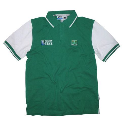 Official Rugby World Cup 2011 Ireland Mens Polo Shirt - Green