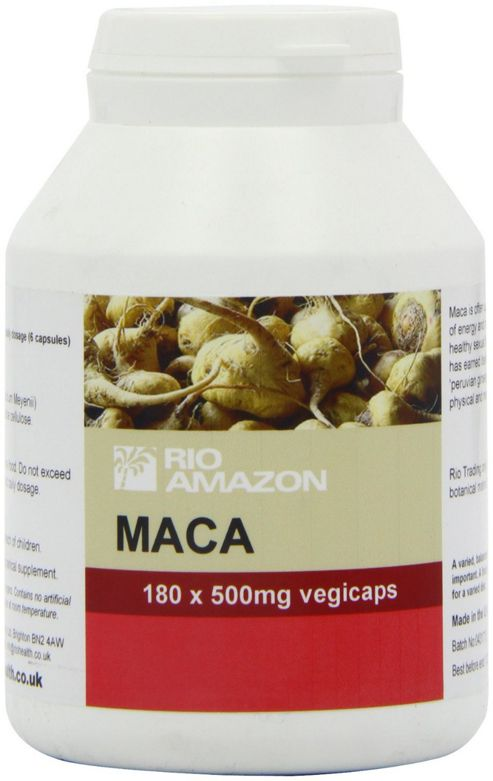 Rio Trading Amazon Maca Capsules 180 Capsules 500mg
