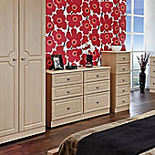 Welcome Furniture Pembroke 76.2 cm Plain Midi Wardrobe - Light Oak