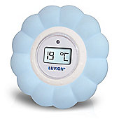 Luvion Bath & Room Flower Thermometer in Blue