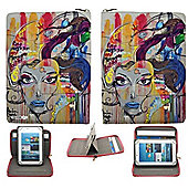 Streetslips Limited Edition Graffiti Face Tablet Case Universal up to 10.1 Inch Vibrant Print Unique Functionality SSGF10 5060236109873