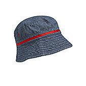 Ticking Stripe Fisherman's Hat - Blue