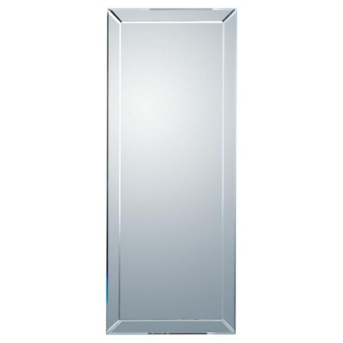 Contemporary Bevelled Mirror 42x100cm