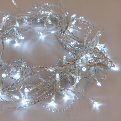 Buy 100 Indoor / Outdoor LED String Fairy Lights, Cool White from our Novelty Lighting range - Tesco