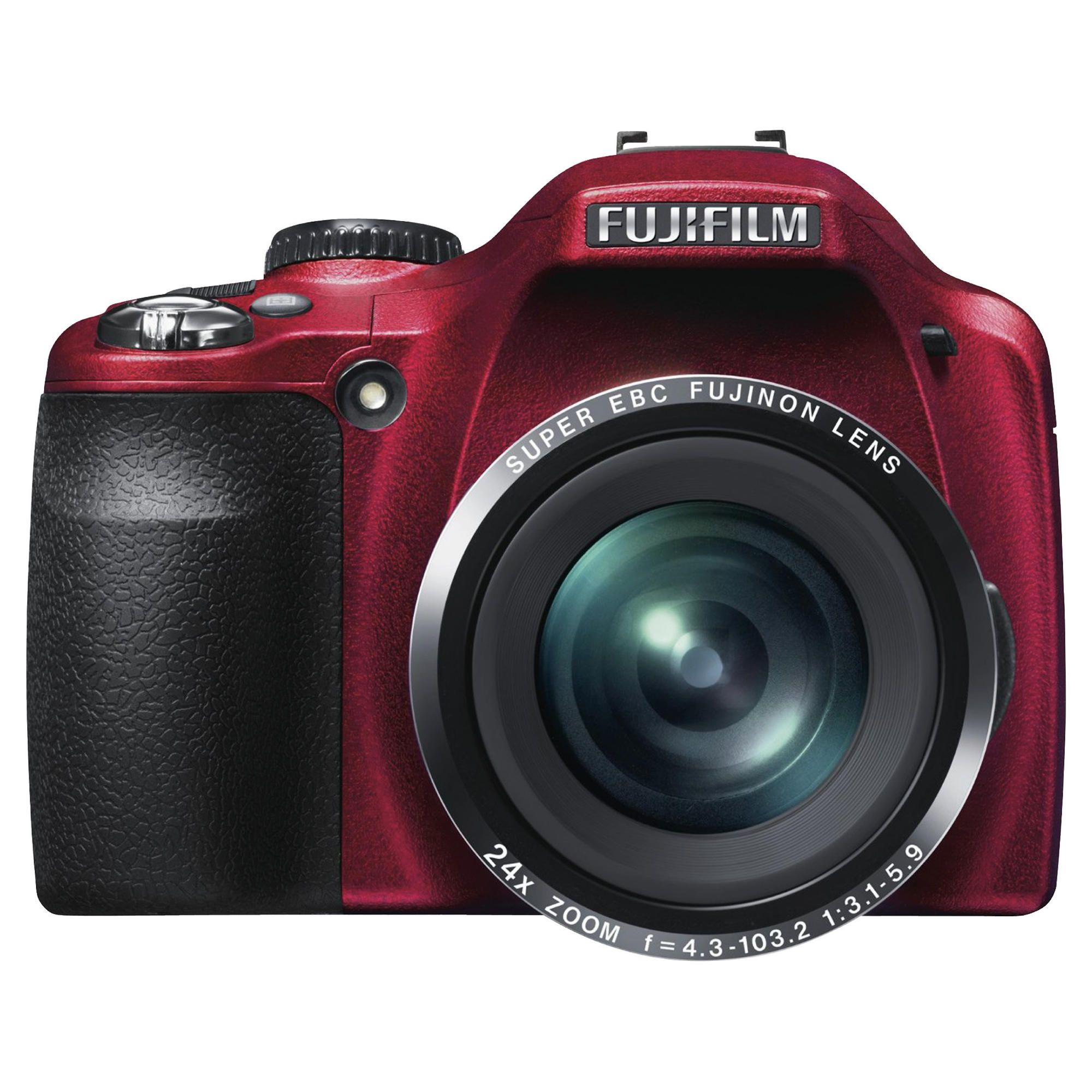 Fuji SL240 Digital Camera, Red, 14MP, 24x Optical Zoom, 3.0 inch LCD Screen