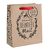 Pack Of Three Delivered by Reindeer Large Christmas Gift Bag