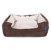 Silentnight Micro-Climate Snuggle Dog Bed - Cord Ivory - Medium