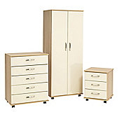 Ideal Furniture Regal Bedroom Collection - Cocobola / Cream Gloss