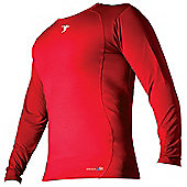 Precision Base-Layer Long Sleeve Crew-Neck Shirt Small Red