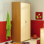 Parisot Mega Two Door Wardrobe in Japan Pear Tree / Sand