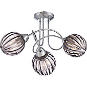 Home Essence Cajetan Ceiling Light in Chrome - Clear Acrylic