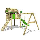 Climbing Frame Fatmoose Fun Factory Fit XXL With Apple Green Slide and Swing