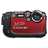 "Fuji XP200 Digital Camera, Red, 16MP, 5x Optical Zoom, Waterproof, 3"" LCD Screen, Wi-Fi"