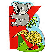 Bigjigs Toys BJL211 Wooden Magnetic Animal Letter Uppercase K (Designs Vary)