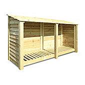 Normanton wooden log store - 4ft