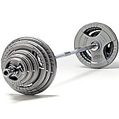 PureFitness & Sports 145kg Olympic Weight Set with 7ft Olympic Bar