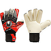 Uhlsport Eliminator Supersoft Roll Finger Goalkeeper Gloves Size - Black