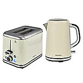 Brabantia BQPK07 Almond Breakfast Kettle and 2 Slice Toaster Set