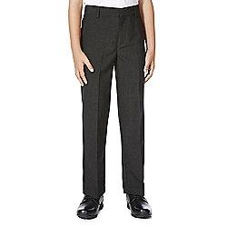 F&F School Boys Flat Front Slim Leg Trousers