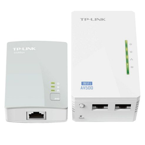buy tp link 500mbps powerline kit with 300mbps wi fi extender with 2 ethernet ports wifi clone. Black Bedroom Furniture Sets. Home Design Ideas