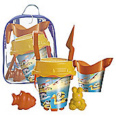 Minions spade and sand mould set in ruck sack