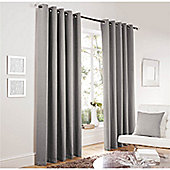 Curtina Lincoln Silver 90x90 inches (228x228cm) Eyelet Curtains