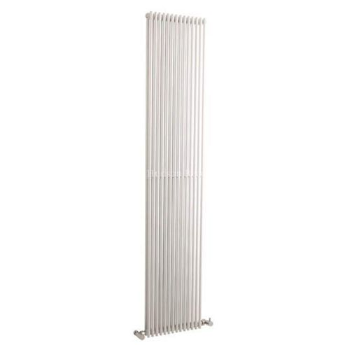 Hudson Reed Refresh Double Panel Vertical Designer Radiator White 1500mm High x 350mm Wide