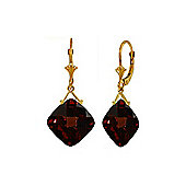 QP Jewellers 17.50ct Garnet Deflection Earrings in 14K Gold