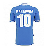 2013-14 Napoli Authentic Home Shirt (Maradona 10) - Blue