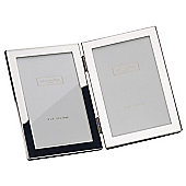Addison Ross Double Photo Frame Silver Plate Frame - 20 cm x 25 cm