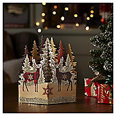 Luxury Stag Scene Christmas Cards, 6 pack