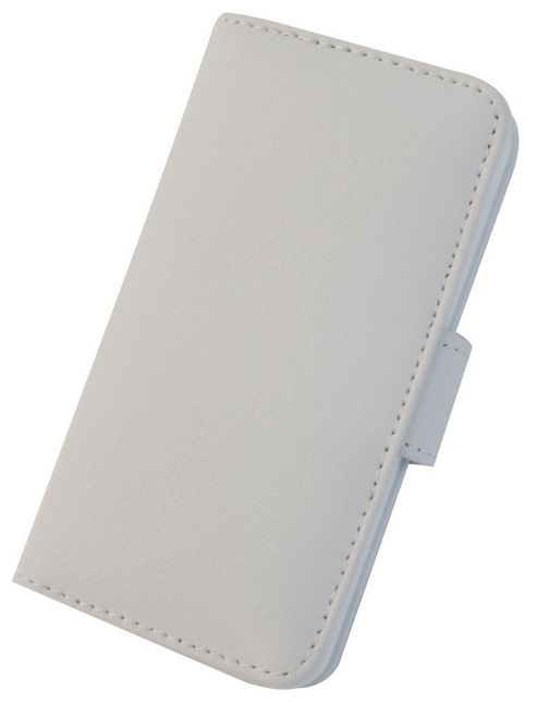 Tortoise™ Genuine Leather Folio Case iPhone 5 White