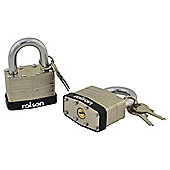 Rolson 2pc 40mm keyey a like Padlock