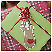 Tesco Rudolph Christmas Gift Tags, 6 Pack