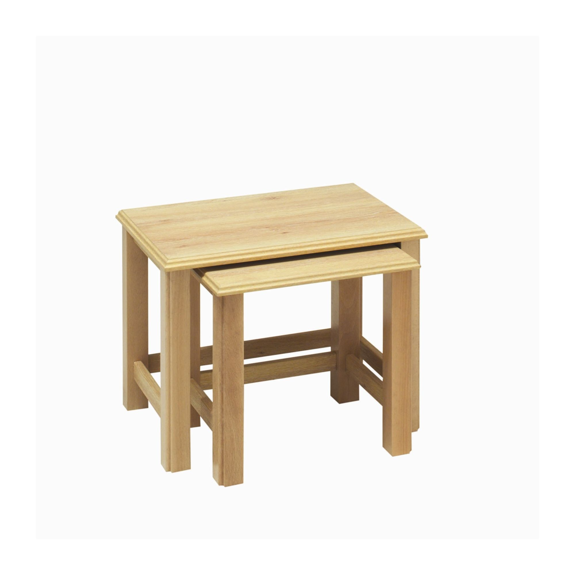 Caxton Driftwood Nest of Two Table in Limed Oak at Tesco Direct