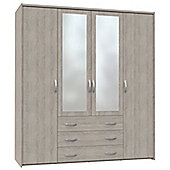 Altruna Now 4 Doors Wardrobe - Oak