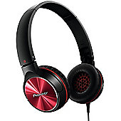 PIONEER SEMJ532 HEADPHONES (BLACK/RED)