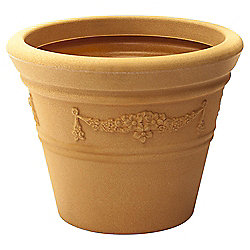 Strata Terracotta Colour Garland Pot, 43cm