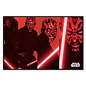 Star Wars Gloss Black Framed Darth Maul Compilation Poster