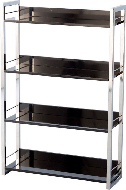 Home Essence Boston Four Shelf Bookcase/Display Unit in Black - Black