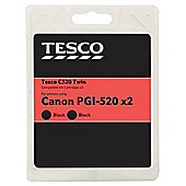 Tesco C520 twin pack (Compatible with printers using Canon PGI 520 ink cartridge)