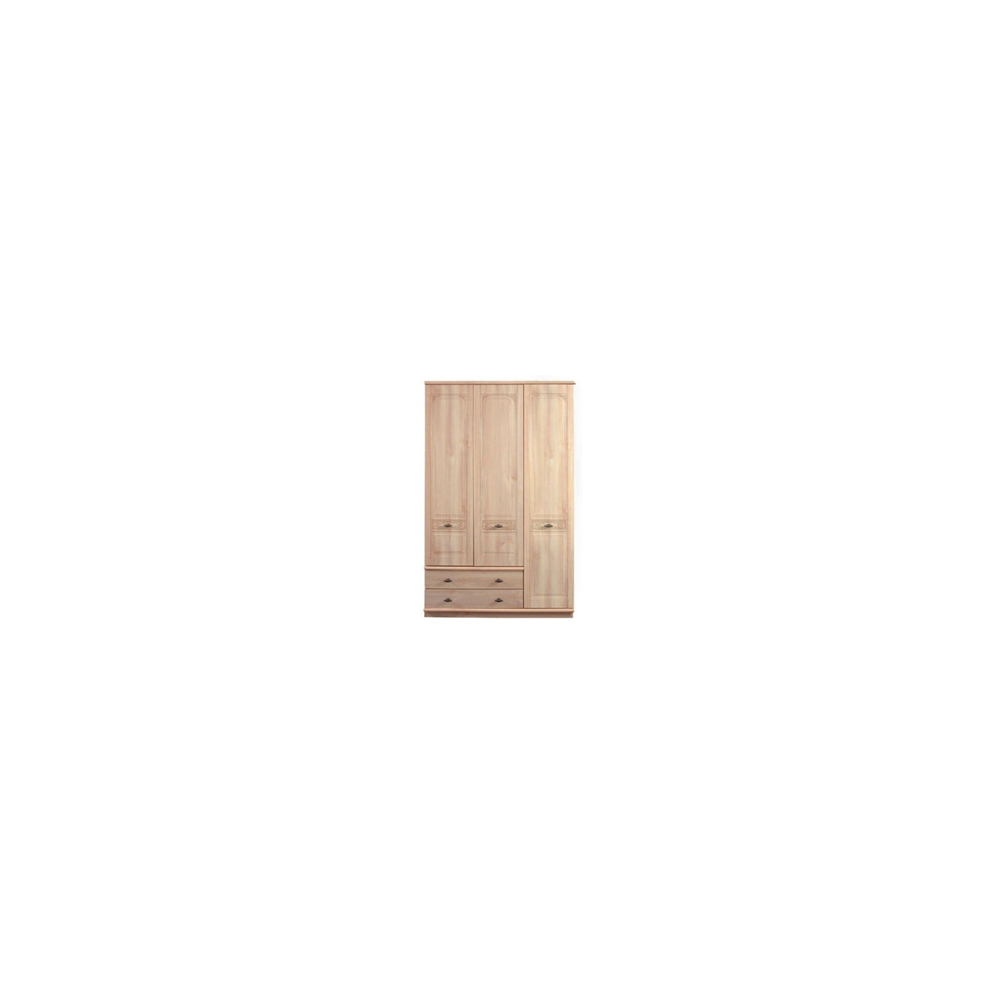 Caxton Florence 2 Drawer Wardrobe in Washed Oak Effect at Tesco Direct