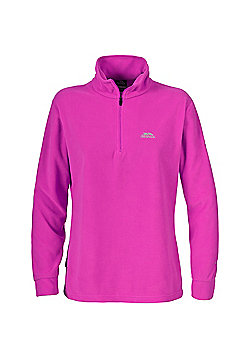 Trespass Ladies Louviers Fleece Zip Top - Pink