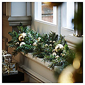 Gold Berry and Bauble Christmas Garland, 1m