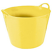 42L Plastic Flexi Tub with Handles - Yellow