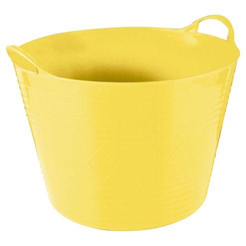 Tesco 42L Flexi Tub Lemon