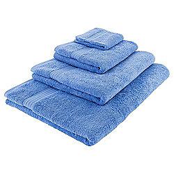 Tesco Hygro 100% Cotton Hand Towel, Cotton Blue