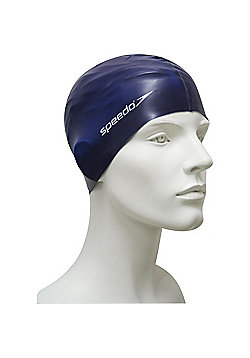 Speedo Senior Flat Silicone Swimming Cap - Blue